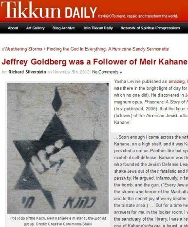 Tikkun Magazine Jeffrey Goldberg screenshot