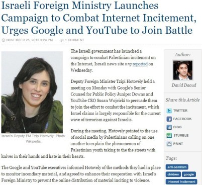 algemeiner false report