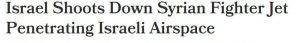 israel downs syrian plane