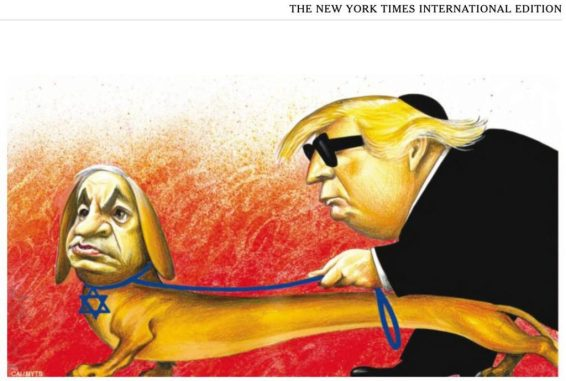 trump netanyahu censored nyt cartoon