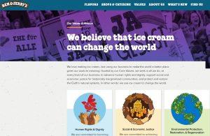 Ben & Jerry's social justice values