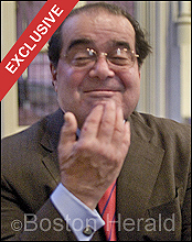 Scalia Flips the Bird to His Critics