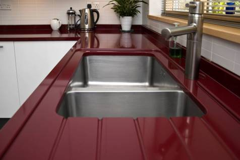 Counter with drainer detail