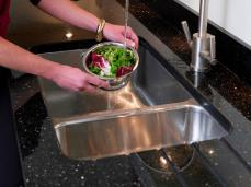 Sink detail - counter in Star Galaxy granite