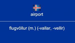 A customised Icelandic card in Anki
