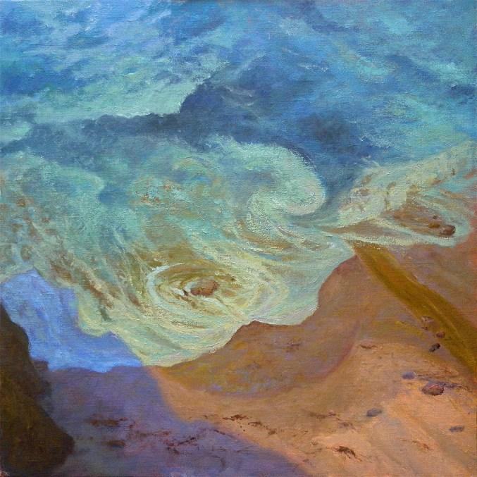 """Aqua Surge — Big Sur 48x48"""" $9500"""