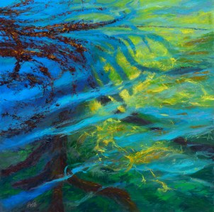 """""""Beyond the Surface — China Cove"""" 48x48"""" Oil on Linen $11000"""