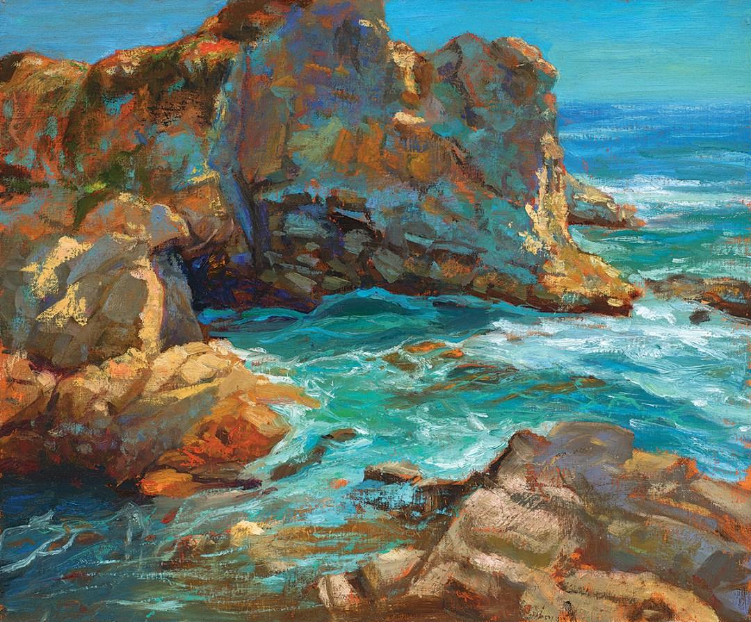 """Grotto | Carmel Highlands"" 20x24"""" Oil on Linen"