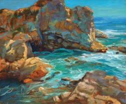 """""""Grotto   Carmel Highlands"""" 20x24"""" (Dark wood frame with 22K Gold Inset) $3800"""