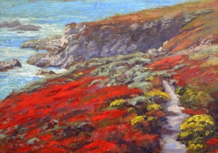 """""""Garrapata Trail - California State Park"""" 15x20"""" Oil on Canvas."""