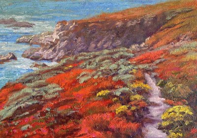 """Garrapata Trail - California State Park"" 15x20"" Oil on Canvas."