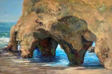 """Rich Brimer, """"A View Through"""" oil painting on Linen."""