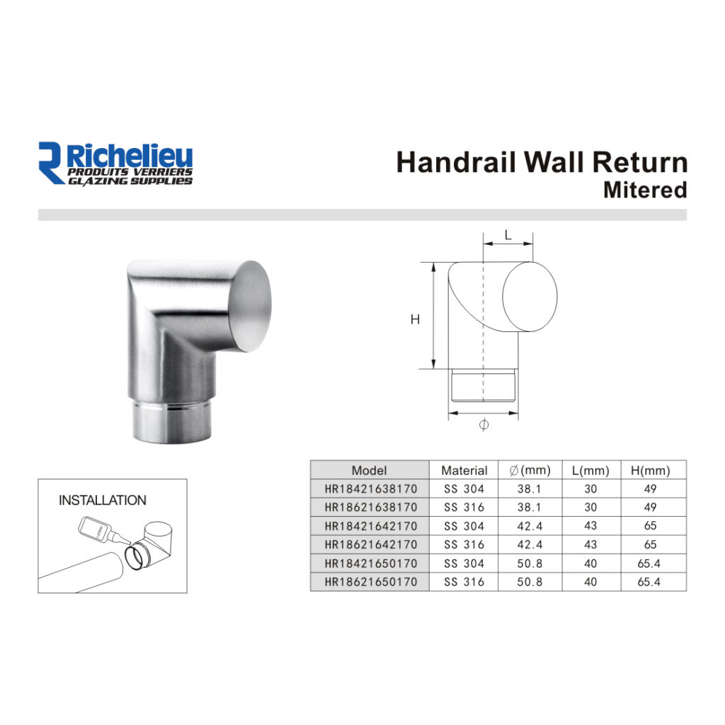 Mitered Handrail Return For Round Handrail