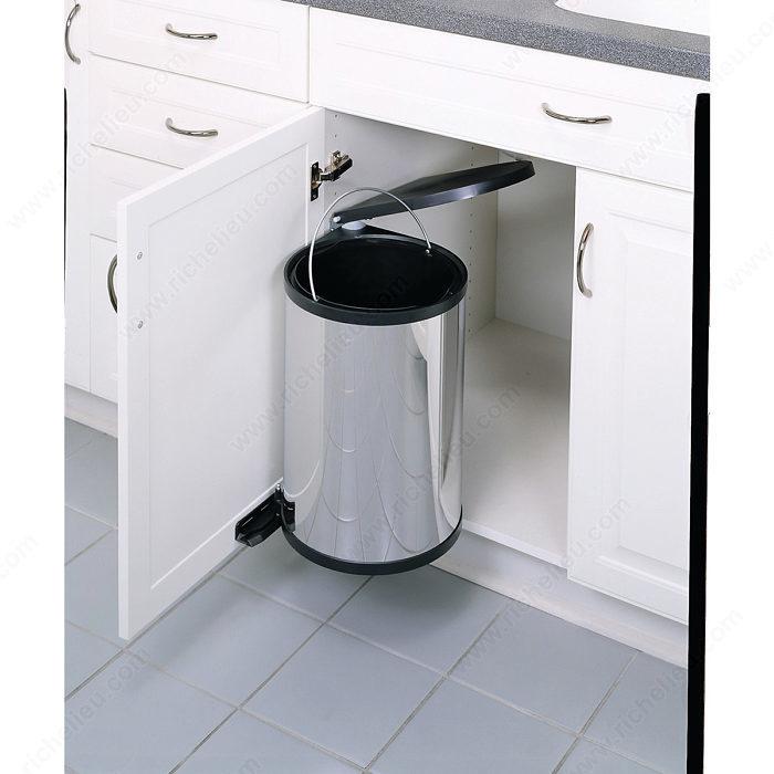 poubelle pivotante 1 x 15 litres