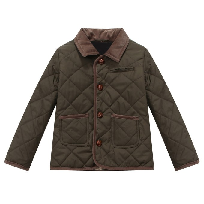 Crosshatched Jacket with Courdoroy Trim
