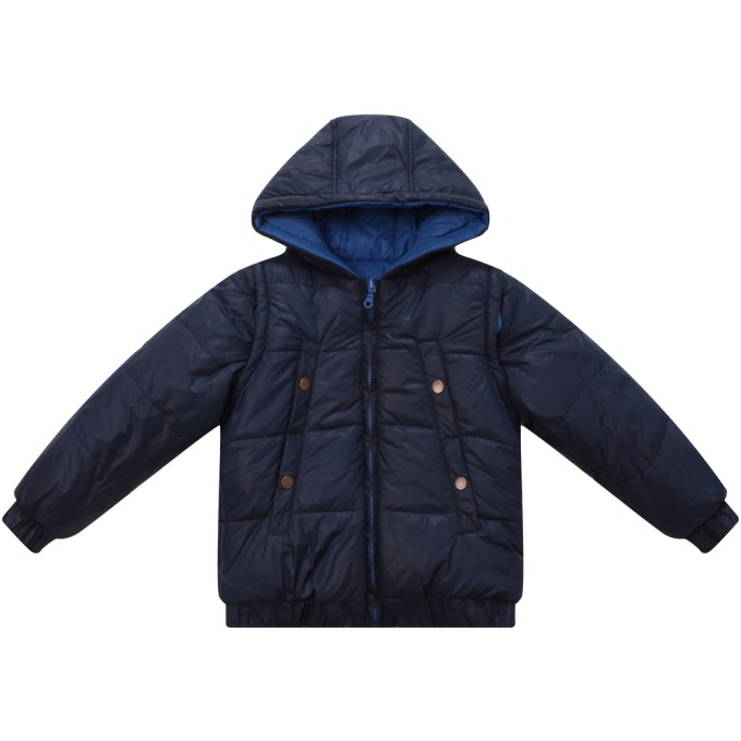 Hooded Padded Jacket with Removable Sleeves