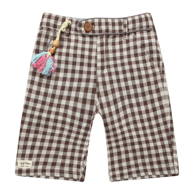 shorts with one wood doll decoration