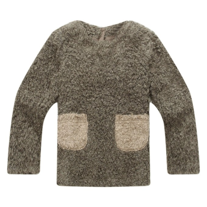 Brushed Pullover with Cute Pockets