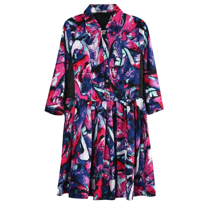 Dress with Colorful Prin
