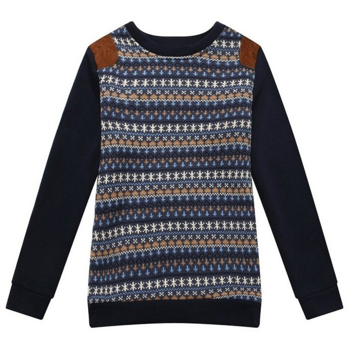 Sweater with Knit Sleeve