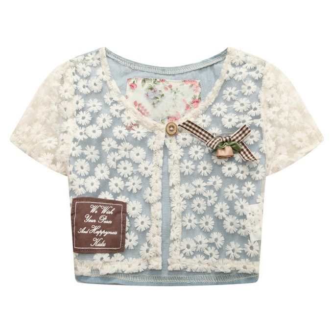 Short Sleeve Cape with Lace