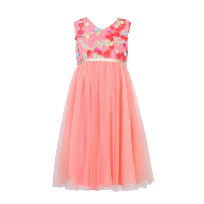 Princess Mesh Dress With Flowers