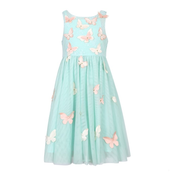 Party Mesh Dress With Butterflies