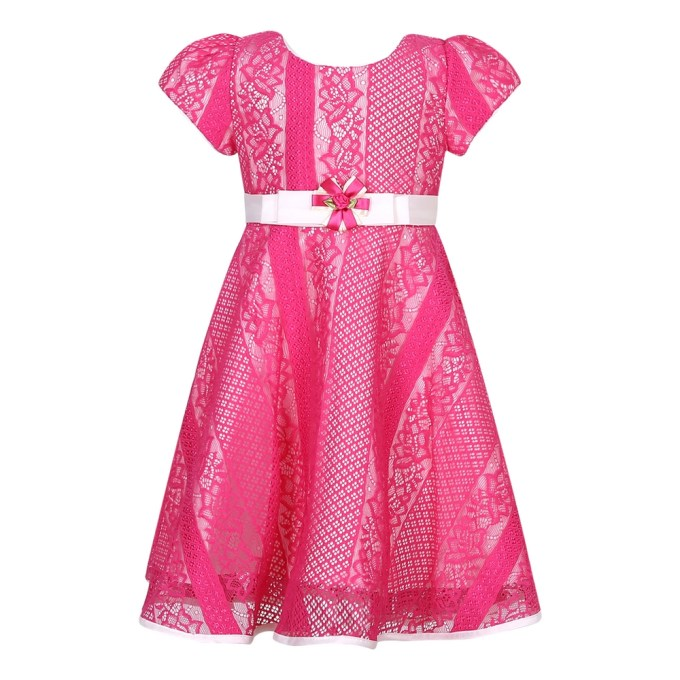 Sweet Party Dress with Flower Accent