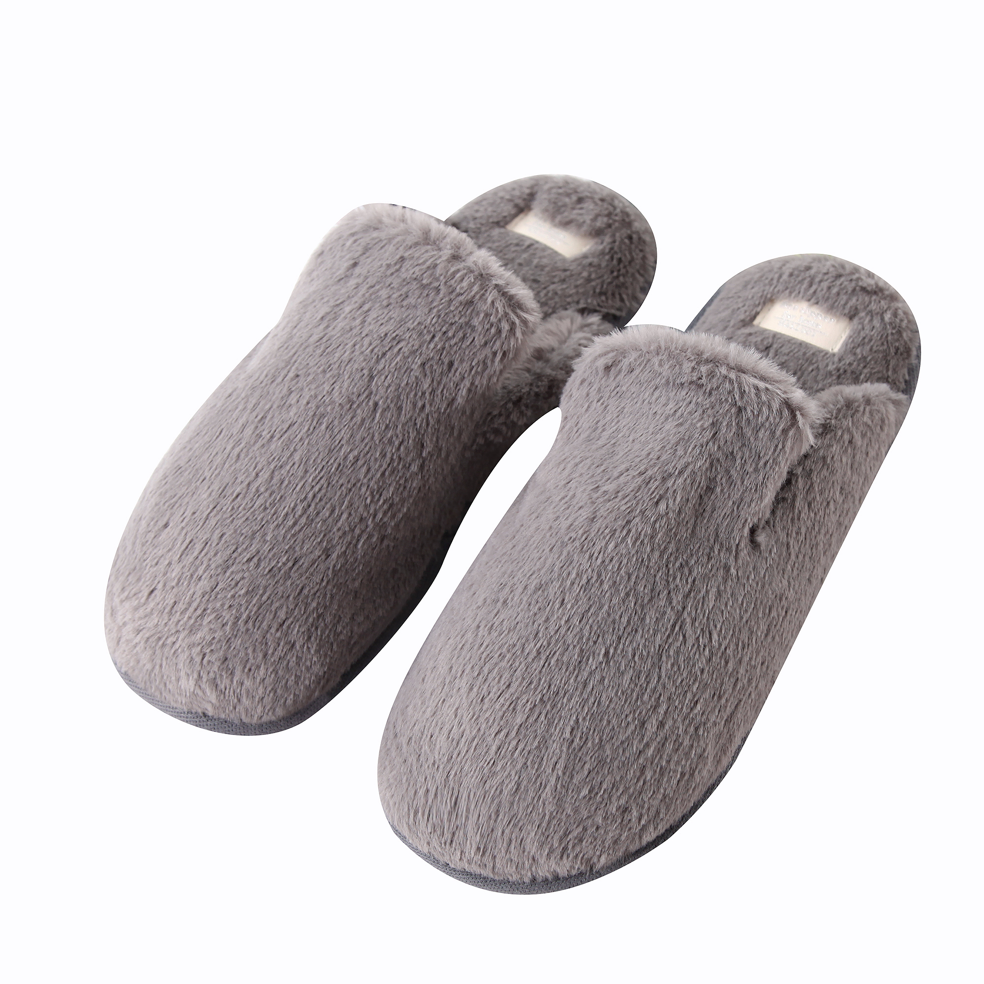 Plush on Memory Foam House Slippers