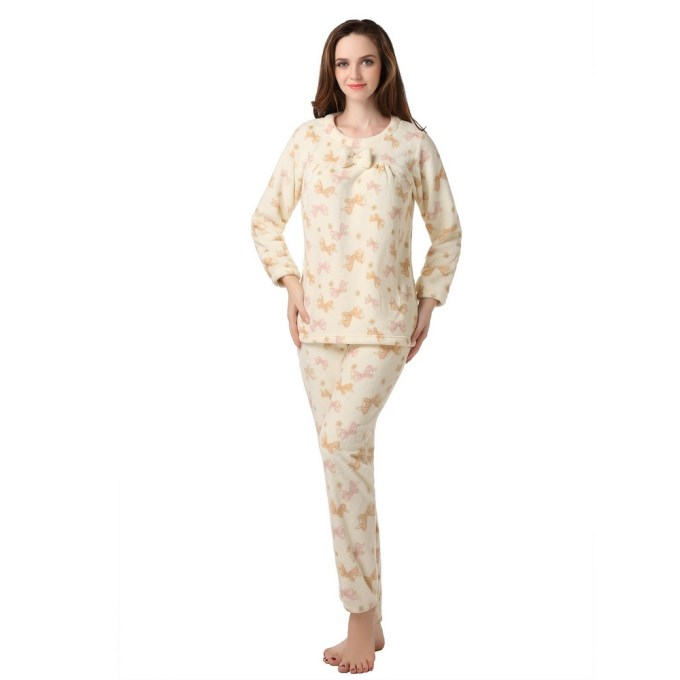 Fleece Bathrobe Set Uni Size for S-M