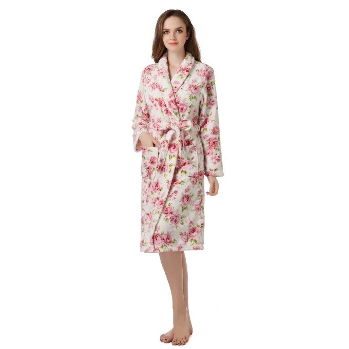 Warm Fleece Bathrobe Robe