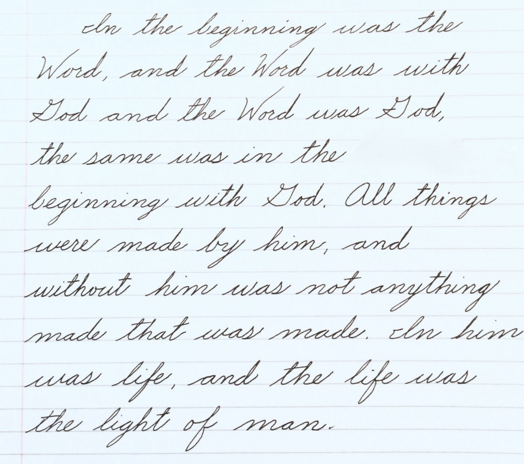 Some Progress In Learning Early American Spencerian