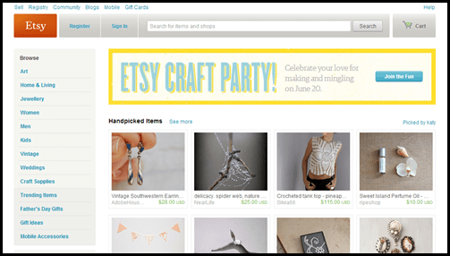 Sell things on etsy