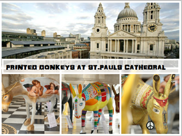 Painted Donkeys At St. Paul's Cathedral London