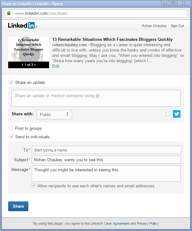 A Definitive Guide To Promote Your Blog On LinkedIn