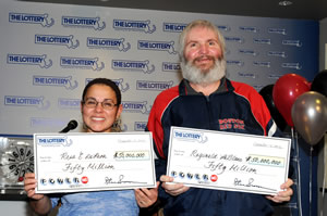 rosa Deleon and Reginald Leblanc David and erica harrig Maureen and Stephen hinckley  Powerball Jackpot in US