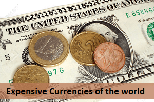 Expensive Currencies of the world