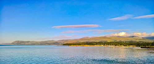 Snowdonia from Bangor pier