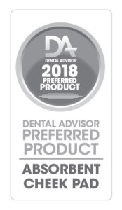 Dental Advisor 2018 Preferred Product Absorbent Cheek Pad Reflective Shields Plus