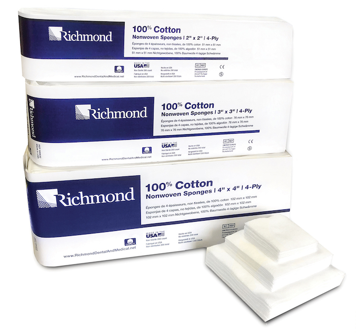 Cotton Nonwoven Sponges | Richmond Dental & Medical - Medical