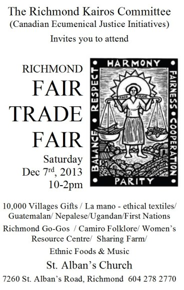 Richmond Fair Trade Poster