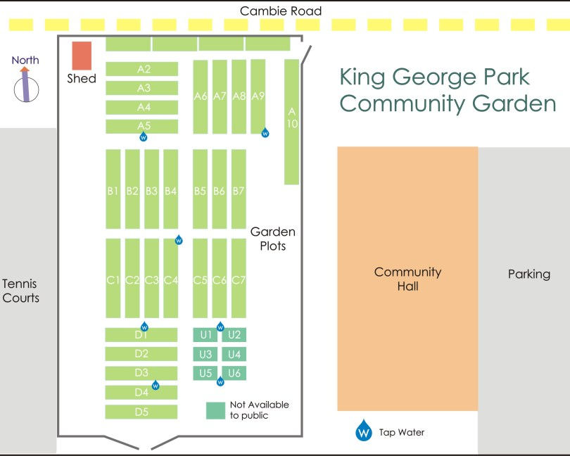 King George Park Gardens Diagram