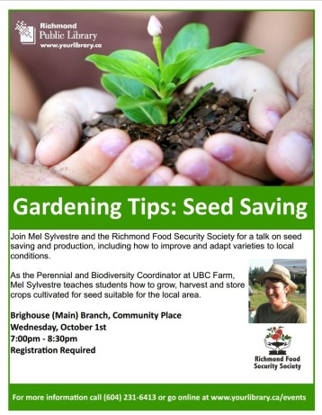 Seed Saving Workshops Fall 2014