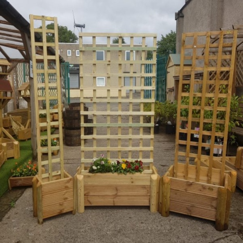 Wooden Planters With Trellis Richmond Garden Centre
