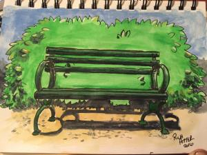 Day 34. Bench. Study for an upcoming commission.