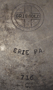 cast iron griswold skillet emblem