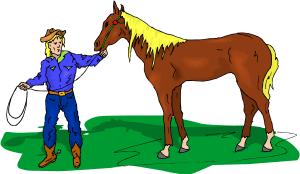 Farmer & Horse