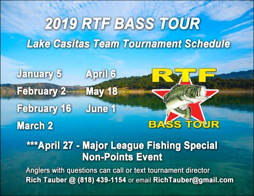 2019 RTF Bass Tour Schedule