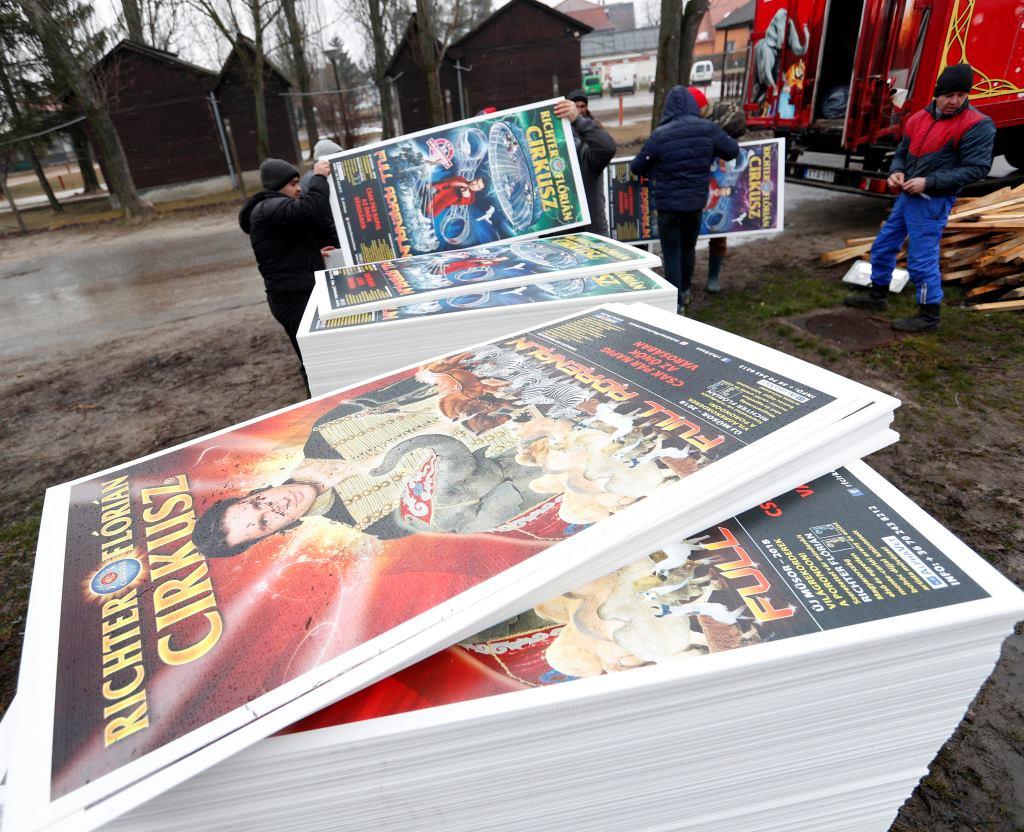 Richter Flórián Cirkusz plakátok