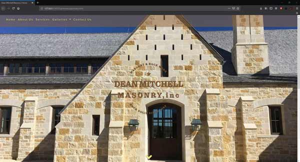 Dean Mitchell Masonry Website Index Page